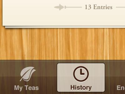 Possible iOS Tab Bar ios app design iphone tea teaapp steep leaf tabbar tab bar