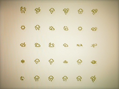 Tiny Weather Icon Vector Set weather icons icon vector set weather icons cloud rain sunshine night wind snow hail