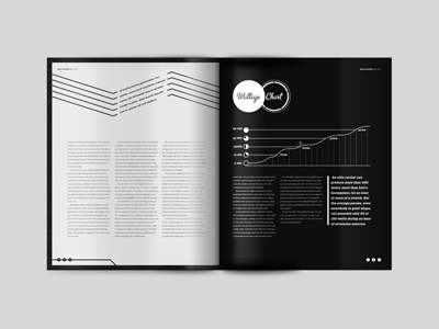Magazine Spread 3 of 3 print spread magazine layout design grid typography chart graph