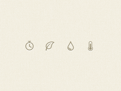 Icons icons temperature leaf water droplet drop timer stopwatch time