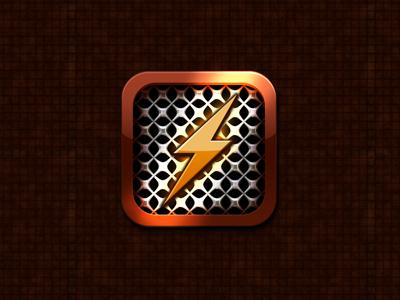 Lightning App Icon Take 2 lightning app icon critique iphone ios orange new glyph lighting shiny glossy glowy mmmmmmm improvements yknow