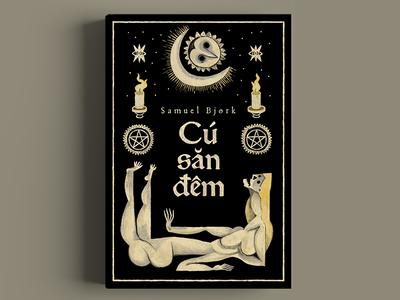 Uglen/ The owl always hunts at night - Samuel Bjørk typography book love buitam illustration cover drawing design bookcover