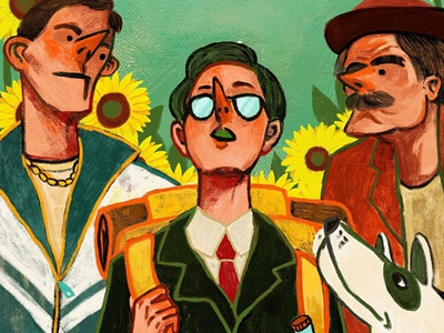 Artwork for Everything Is Illuminated / Jonathan Safran Foer flower dog old young nguoidoitapbay art buitam design bookcover colour and lines colour collective colour picker colour palette colour illuminated illegal illustration illustrator everything