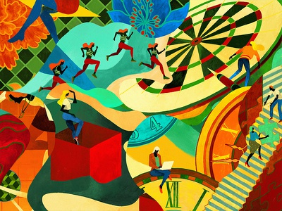 Framgia Calendar 2019 dribbble dribbble best shot pallette colour and lines colour palette colour picker art cover drawing illustration buitam