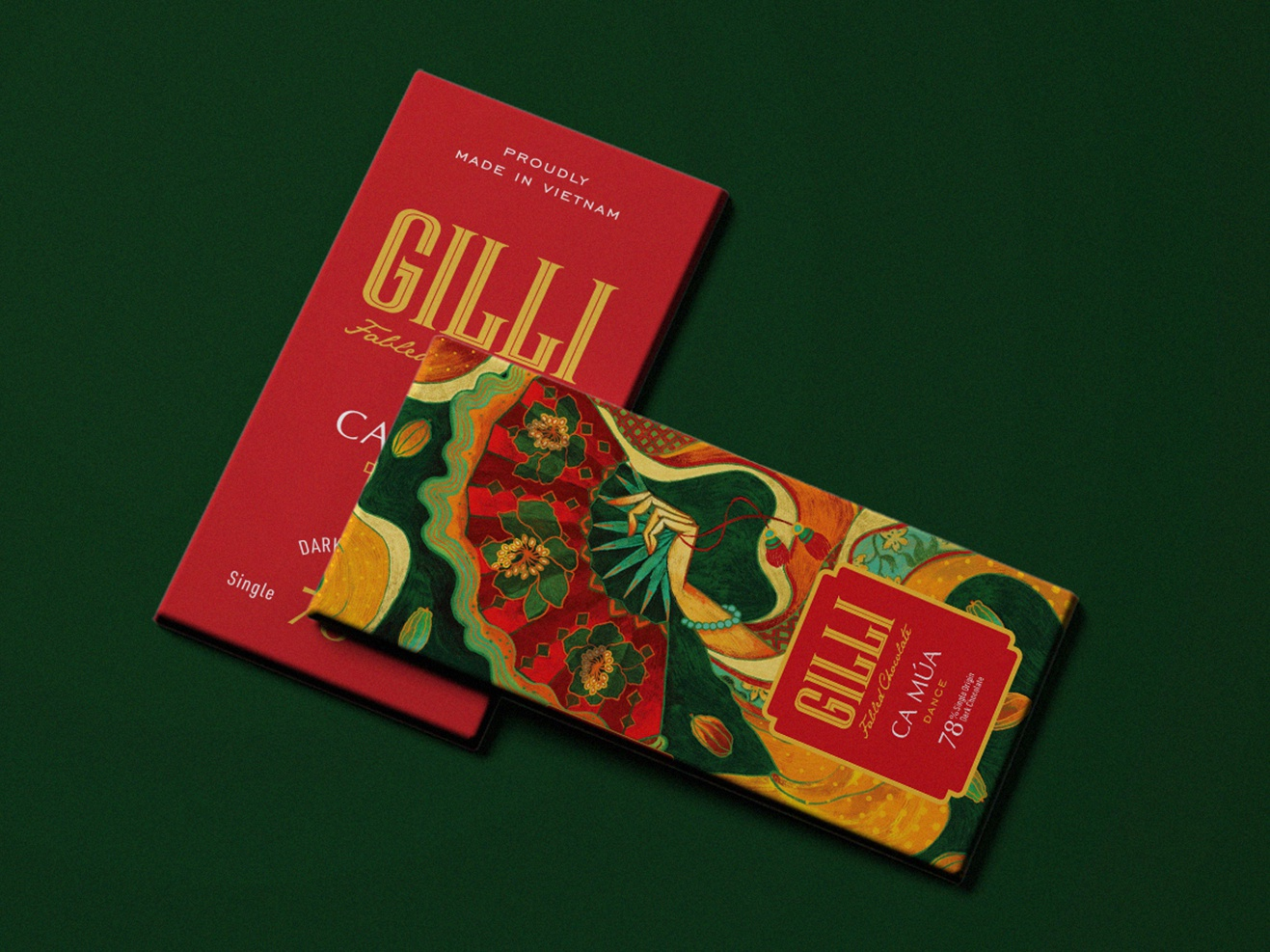 Gilli chocolate traditional art lover chocolate packaging chocolate bar branding design packagingdesign packaging colour and lines colour picker nguoidoitapbay design illustration