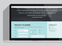 Footer Contact Form