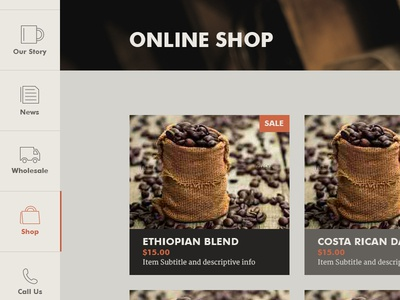 Coffee Product Page