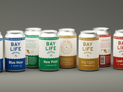 WIP Mockup for Can Line chesapeake bay seagull brewery beer