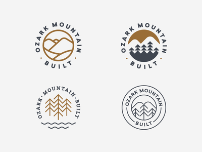 Which One?  construction illustration design trees logo mountain