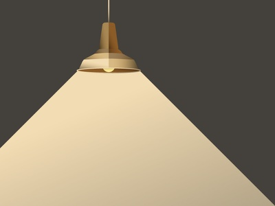Pendant pendant gold bronze light gradient illustration