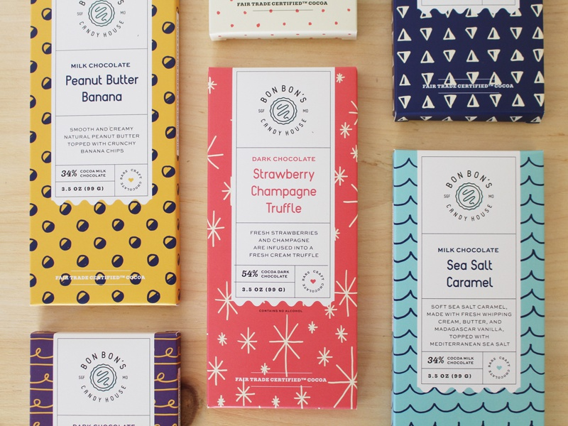 Chocolate Bar Packaging brandidentity branding logo candy pattern handdrawn chocolate packaging