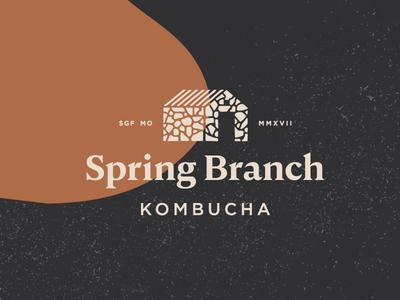 Spring Branch Kombucha springfield missouri beverage identity logo rocks kombucha
