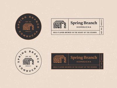 Secondary Logos Spring Branch brand branding kombucha modern beverage identity logo tag circular