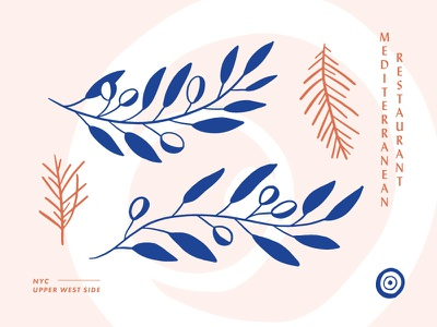 Mediterranean Restaurant icons branding restaurant garnish olives mediterranean nyc turkish