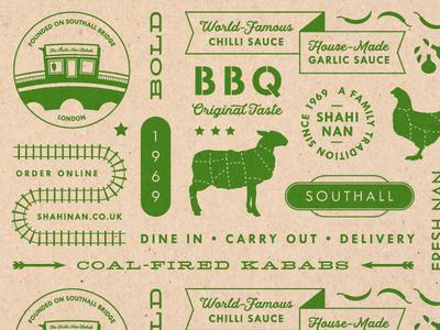 London Rail Brand Pattern indian restaurant london southall bbq restaurant design brand pattern