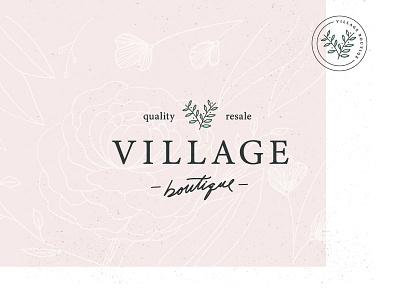 Village Boutique Rebrand foliage resale clothing boutique