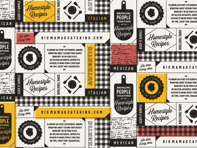 Pattern Design WIP hospitality branding catering restaurant pattern