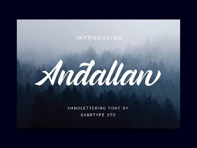 Andallan fonts script font packaging logo design logotype design typography branding font awesome font