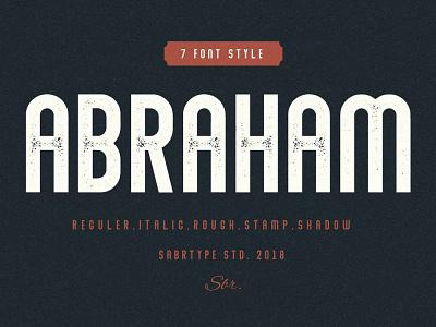 Abraham Font Family vintage font sans serif font packaging type design typeface logotype branding typography fonts font awesome font