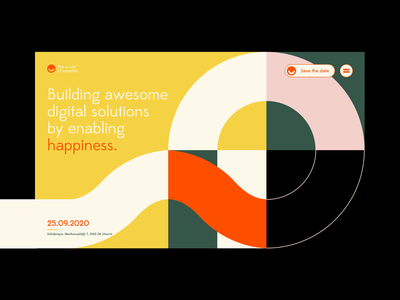 The world of Incentro | Web concept conference world colourful vector ux incentro ui identity webdesign event happiness smiley circles branding