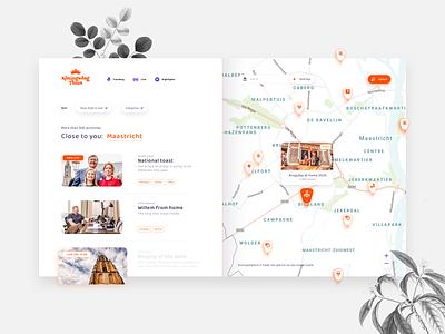 Kingsday 2020   Map view ux ui video streams webdesign google incentro queen king royals festive dutch government dutch map platform orange netherlands koningsdag kingsday