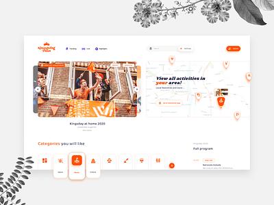 Kingsday 2020 live streaming home map video platform google netherlands dutch government dutch royals queen king koningsdag kingsday webdesign ux incentro ui