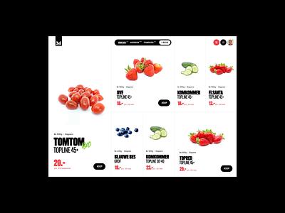 The Market tomatoes supermarket market handwritten avocado concept animation trading greens fruit experiment ecommerce interface exploration branding layout webdesign ux ui