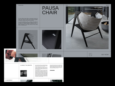 Furniture shop product editorial detail page buy grid squares furniture incentro experiment typography interface exploration layout minimal webdesign ux ui