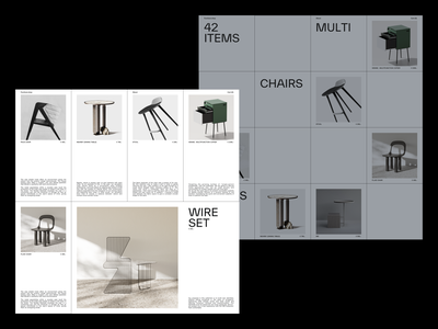 Furniture shop squares product info draft product overview table chair furniture grid layout ecommerce typography interface branding exploration minimal webdesign ux ui