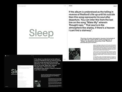 Cabinet collection collecting song typography grid platform lyrics detail hiphop roots vinyl music cabinet design exploration layout minimal webdesign ux ui