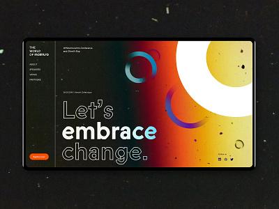 The world of Incentro | Draft change grainy branding festival circles desktop conference film burn grunge ui incentro