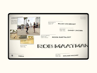 Skate Federation portal documentaries documentary skating skateboard skate vas vintage grunge minimal webdesign ux incentro ui