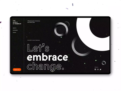 The world of Incentro change incentro grunge grainy circles vintage festival desktop conference ux ui branding
