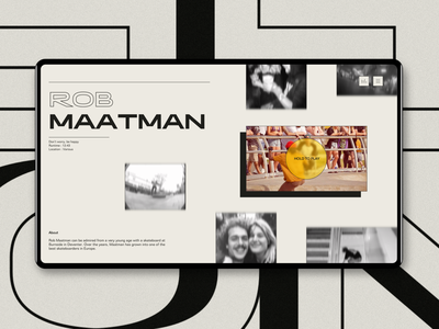 Skate Federation - Profile page olympics movie social modern grunge webdesign skateboarding skateboard vintage documentary incentro ui documentaries
