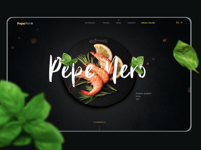 Landing page for a restaurant restaraunt graphic design ui design food