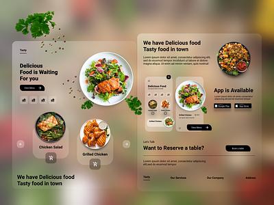 Restaurant App Landing Page store meal eat tasty design restaurant food