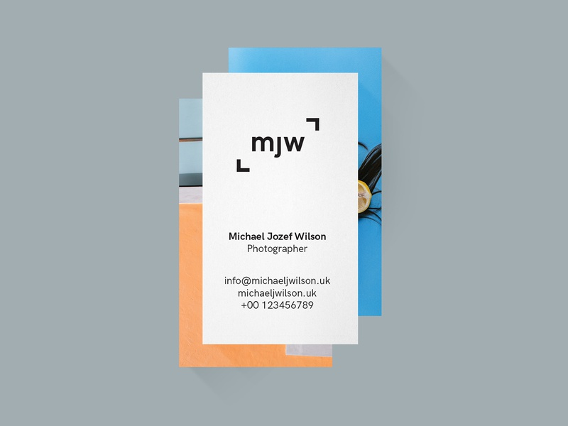 Michael Jozef Wilson art direction art direction business card graphic design print graphic design colour typography branding