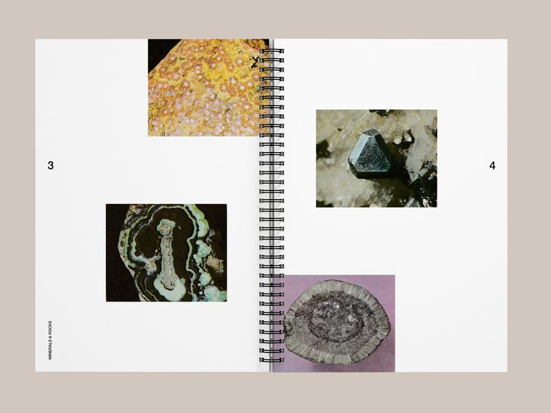Minerals & Rocks graphic design art direction brochure graphic design editorial layout editorial design