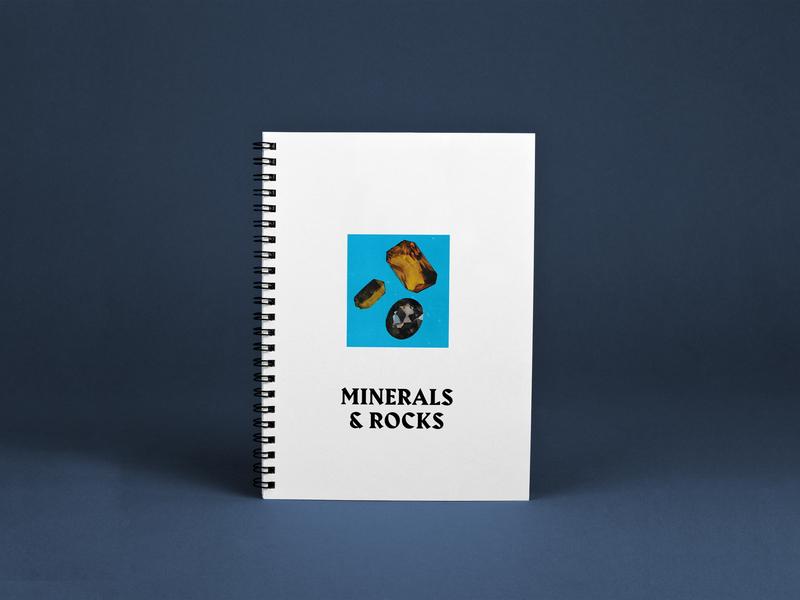 Minerals & Rocks editorial brochure editorial design design art graphic design