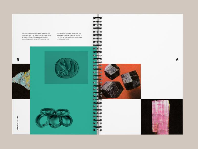 Minerals & Rocks print typography branding graphic design brochure art direction editorial design editoral
