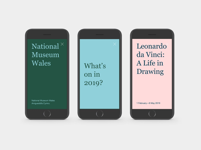 National Museum Wales design ui digital story graphic design art direction typography colour branding