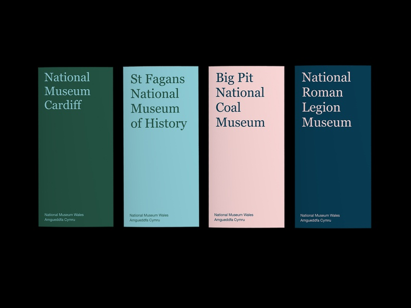 National Museum Wales museums editorial print graphic design brochure graphic design art direction typography colour branding
