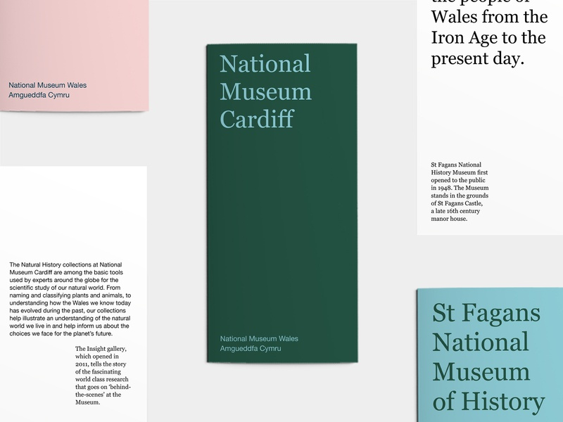 National Museum Wales editorial museum print graphic direction art design brochure graphic design art direction typography colour branding