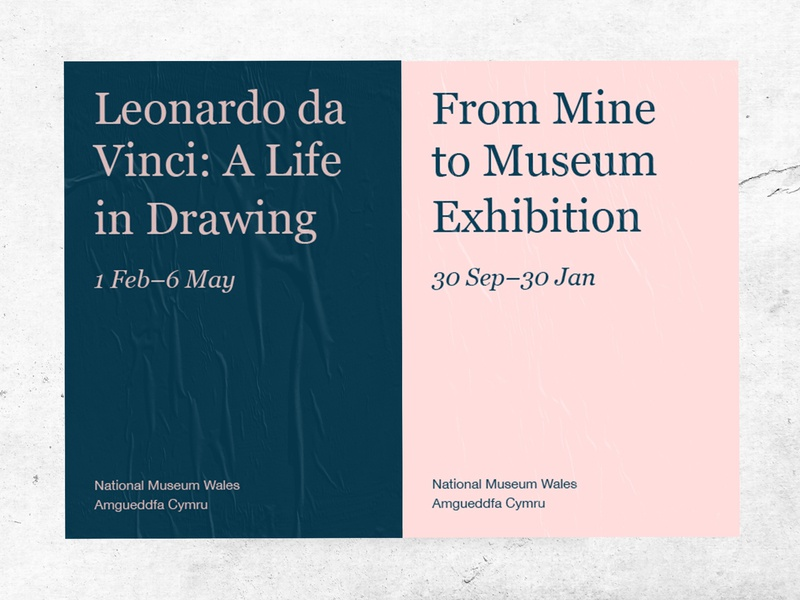 National Museum Wales museum poster wall art graphic graphic design art direction typography colour branding