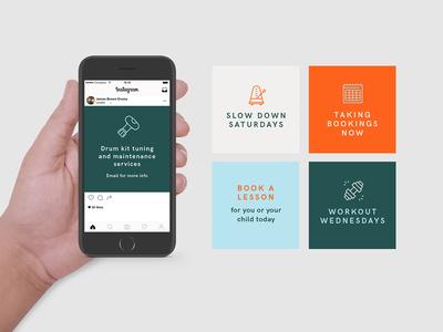 James Brown post instagram social media logo vector art design graphic graphic design art direction colour typography branding