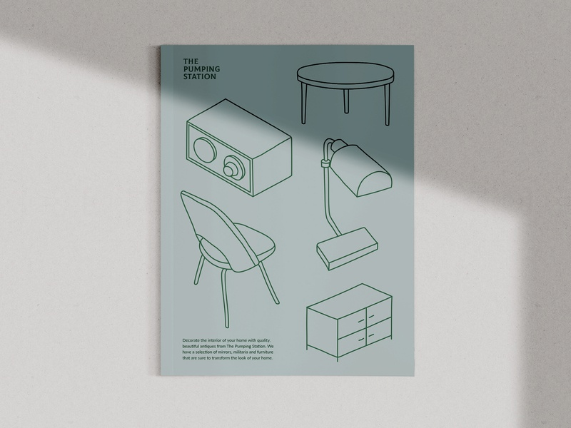 The Pumping Station editorial design vector abstract logo editorial print art brochure design graphic illustration art direction graphic design colour typography branding