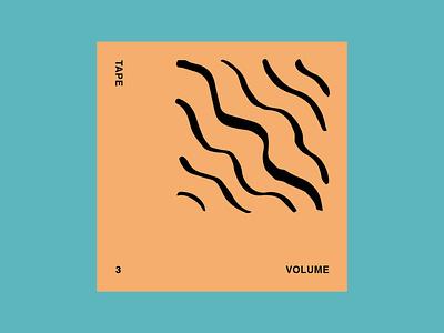 Tape Vol.3 mixtape tape cd artwork musician music direction art design graphic art direction graphic design colour typography branding