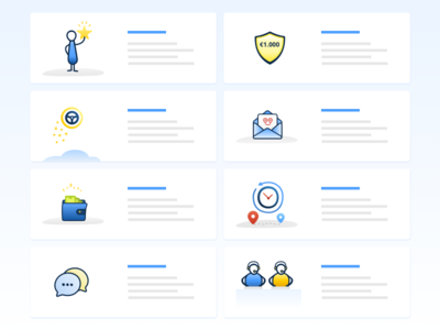Landing Page - Features Proposal features icons illustrations