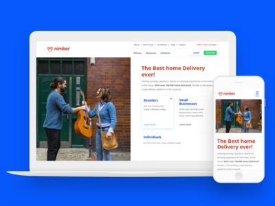 Responsive homepage redesign landing page marketing startup desktop tablet mobile responsive redesign