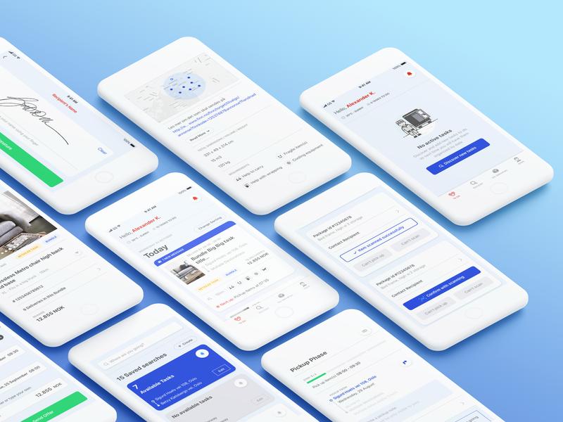 iOS Delivery App ux ui iconography design ios app